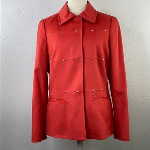 Carlisle orange wool jacket, size 8